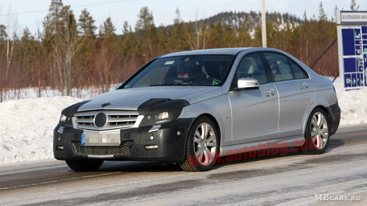 Шпионские фотографии Mercedes-Benz C-class