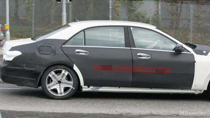 Шпионские фотографии Mercedes-Benz S-class w222 - 2012